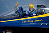 Blue Angels commander Kevin Mannix shares his enthusiasm with the crowd.