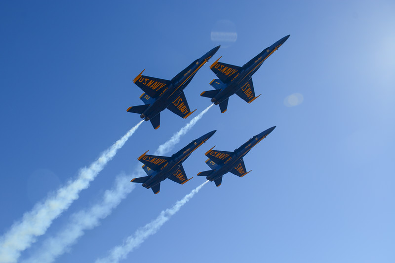 The Blue Angels take off!