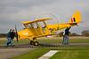 Give us a push! DH82A Tiger Moth at Breighton