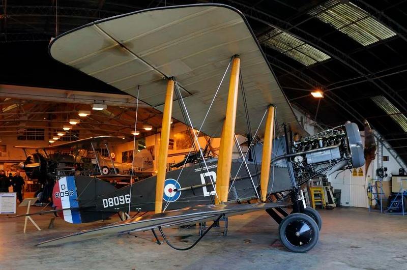1917 - Bristol F.2B fighter D8096, Shuttleworth Collection, Old Warden, Bedfordshire, 30 December 2012. Airworthy original.