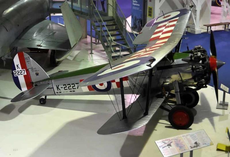 1929 - Bristol Bulldog Mark IIA 'K-2227', Royal Air Force Museum, Hendon, 10 September 2015 3.