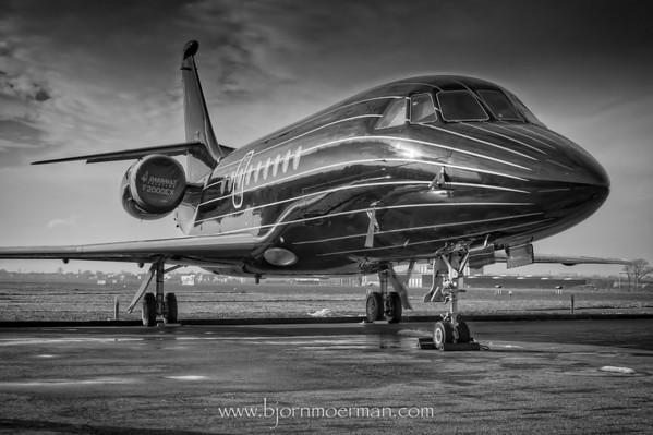 Falcon 2000 EX at Kortrijk-Wevelgem, EBKT