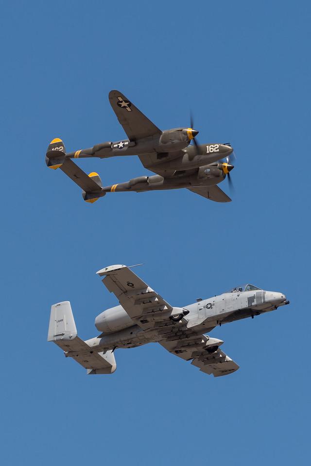 P-38 & A-10 Heritage Flight