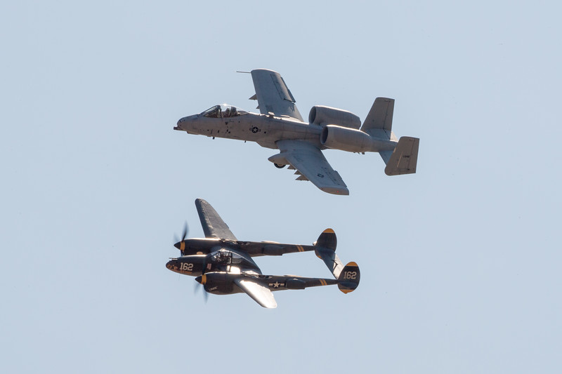 P-38 & A-10 Heritage Flight