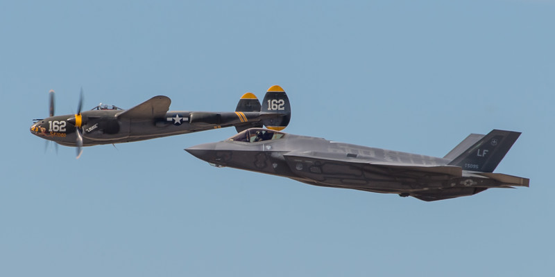 Heritage Flight - P-38 and F-35