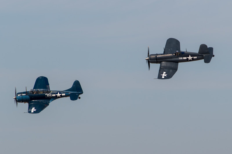 SBD Dauntless and F4U Corsair