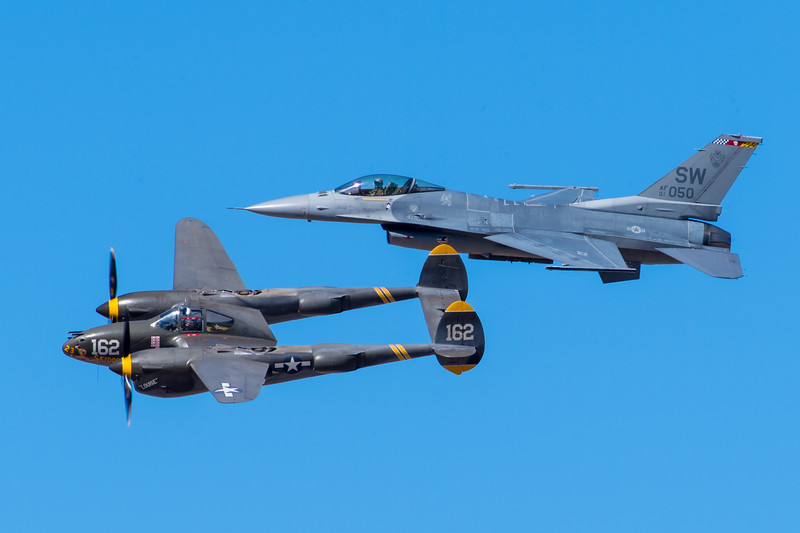 F-16C and P-38