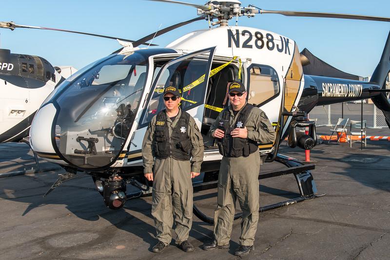 Sacramento County Deputy Sheriffs and EC 120B Helicopter