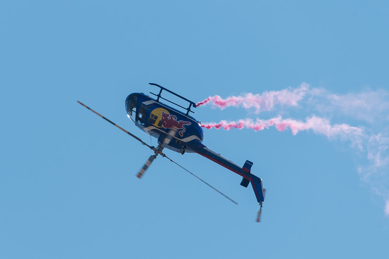 Red Bull Air Force's MBB BO-105 goes inverted