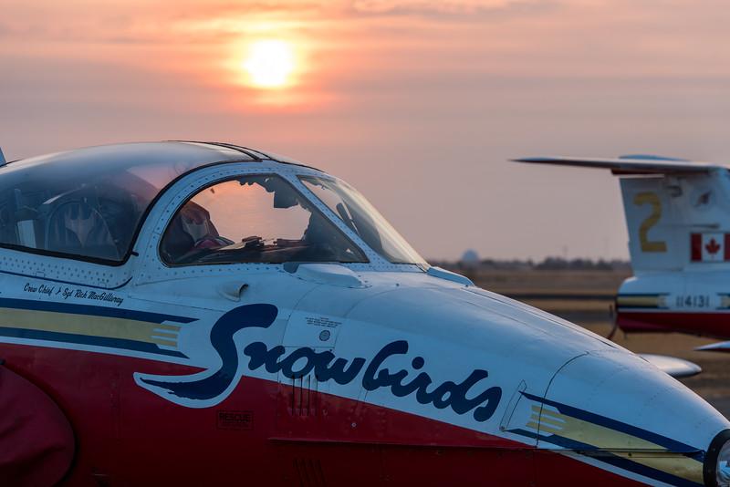 RCAF Snowbirds CT-114 at Sunrise