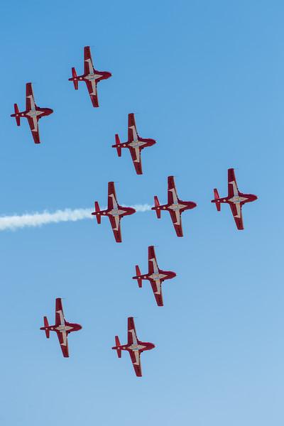 RCAF Snowbirds in flight