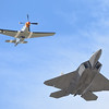 P-51 and F-22 at California International Airshow Salinas