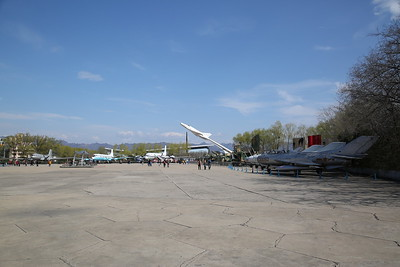 The Central Display Area of the China Aviation Museum, Datangshan, with Nanchang J-12 Supersonic fighter prototype, 01, on prominent display on a pole - 26/03/17.