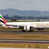 EK arriving on RWY 23L from DXB (Dubai) via BNE (Brisbane).