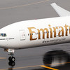 Close up of A6-EGY (EK505) that has just arrived from BOM.