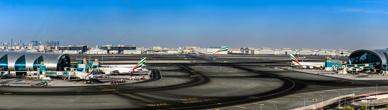 Panoramic overview of Dubai Airport