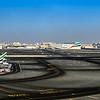 Panoramic overview of Dubai Airport