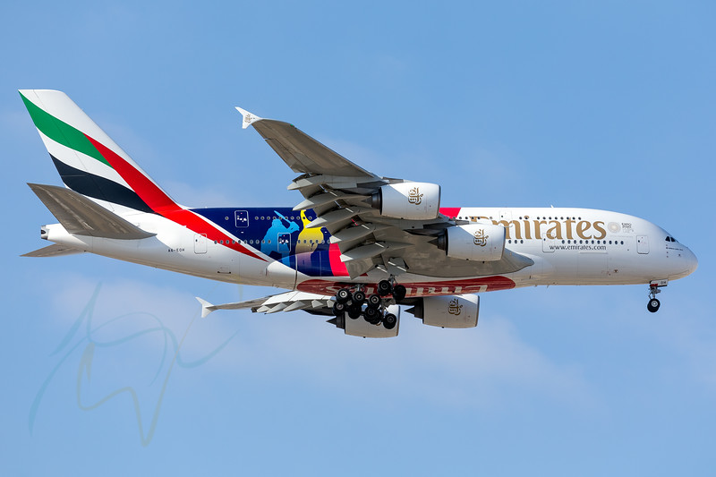 Iconic ICC Cricket Worldcup 2019 livery Emirates Airbus A380