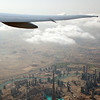 The beautiful view of Burj Khalifa, Dubai Downtown, Dubai Mall and Business Bay can be seen here as we take off from RWY30R as EK406.