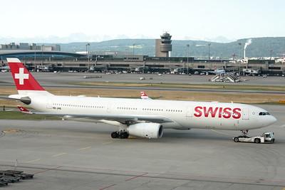 Swiss A330-343, Zurich