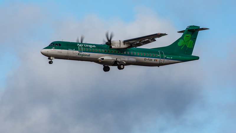 Aer Lingus - ATR 72-600 (EI-FAX) - Edinburgh Airport (February 2020)