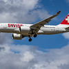 Swiss - Airbus A220-100 (HB-JBE) - Heathrow Airport (June 2020)