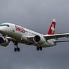 Swiss - Airbus A220-300 (HB-JCG) - Heathrow Airport (March 2019)