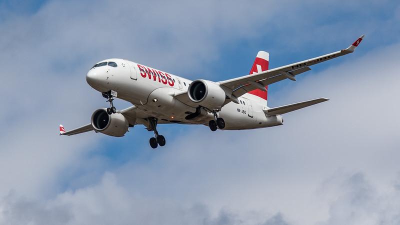 Swiss - Airbus A220-100 (HB-JBG) - Heathrow Airport (August 2020)