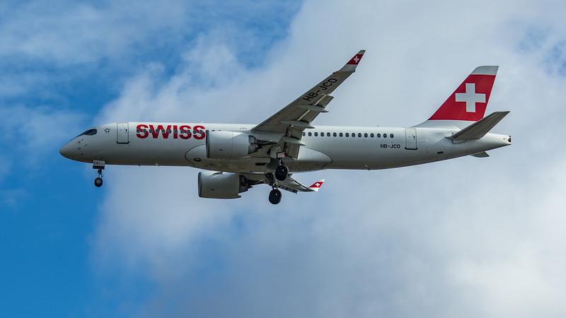 Swiss - Airbus A220-300 (HB-JCD) - Heathrow Airport (June 2020)