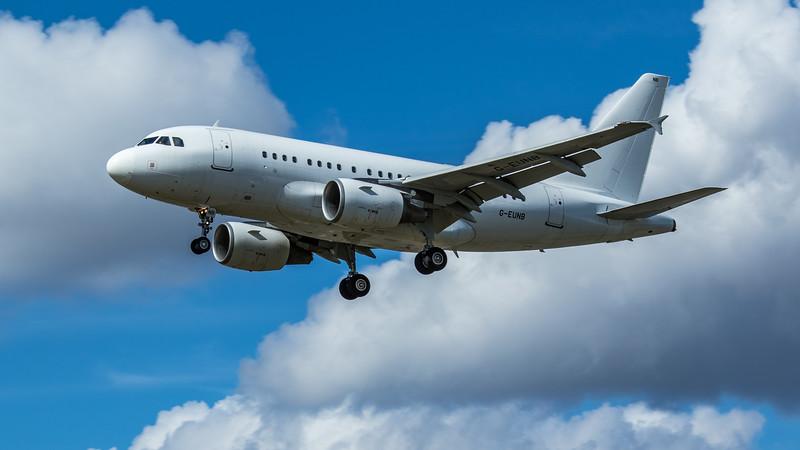 Titan Airways - Airbus A318-112 (G-EUNB) - Heathrow Airport (June 2020)