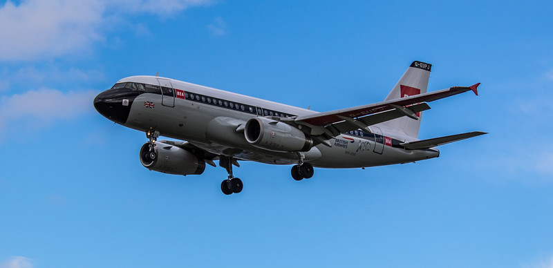British Airways (BEA Retro Livery) - Airbus A319-131 (G-EUPJ) - Heathrow Airport (March 2019)