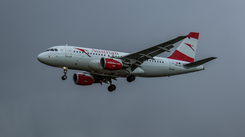 Austrian Airways - Airbus A319-112 (OE-LDC) - Heathrow Airport (February 2020)