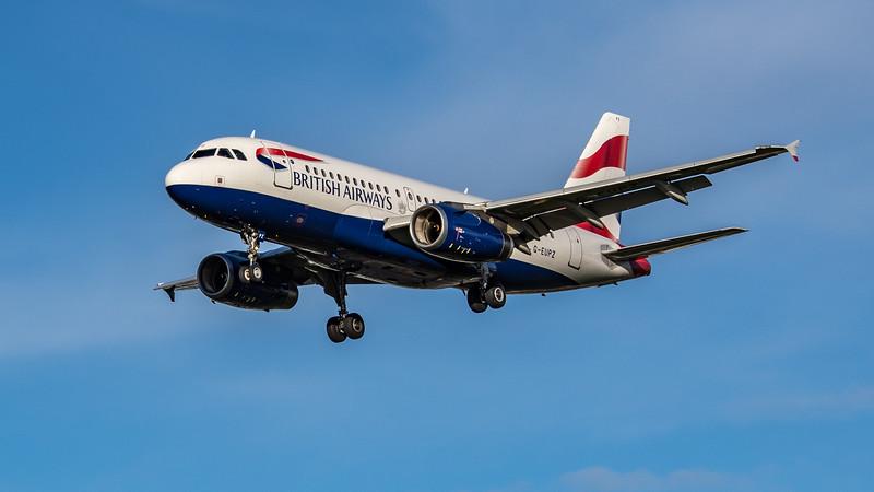 British Airways - Airbus A319-131 (G-EUPZ) - Heathrow Airport (October 2020)