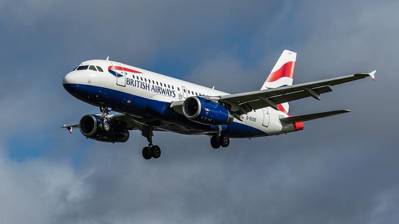 British Airways - Airbus A319-131 (G-EUOE) - Heathrow Airport (February 2020)