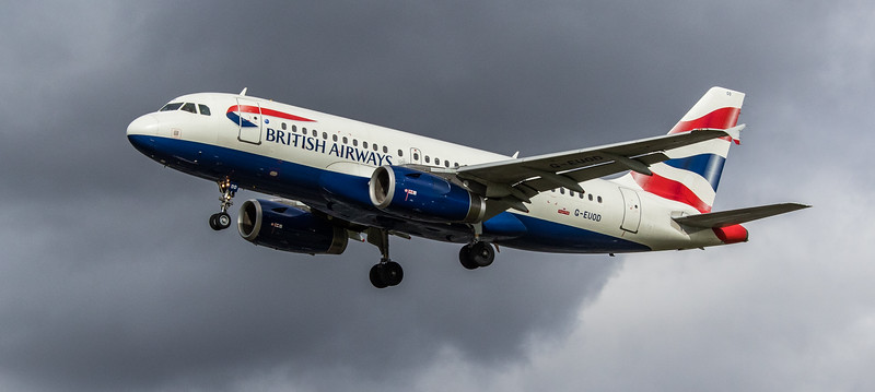 British Airways - Airbus A319-131 (G-EUOD) - Heathrow Airport (March 2019)