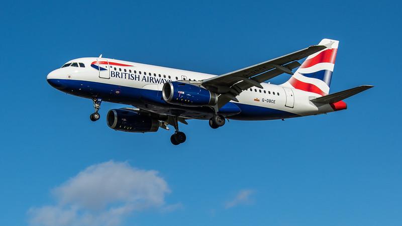 British Airways - Airbus A319-131 (G-DBCE) - Heathrow Airport (March 2020)