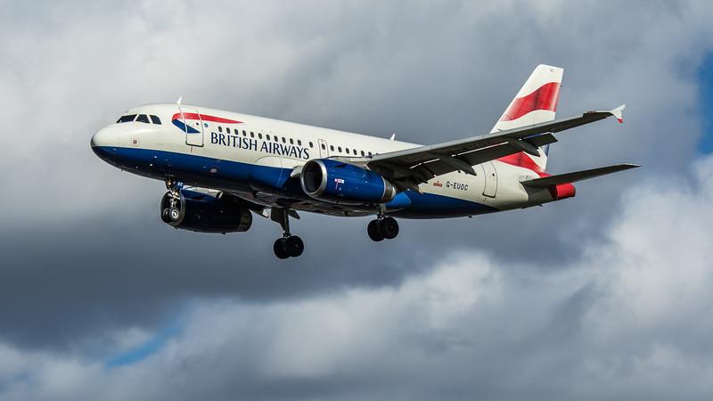 British Airways - Airbus A319-131 (G-EUOC) - Heathrow Airport (March 2020)
