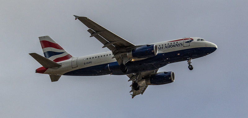 British Airways - Airbus A319-131 (G-EUPE) - Heathrow Airport (March 2019)