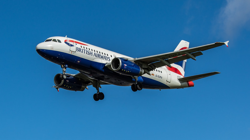 British Airways - Airbus A319-131 (G-EUPA) - Heathrow Airport (February 2020)