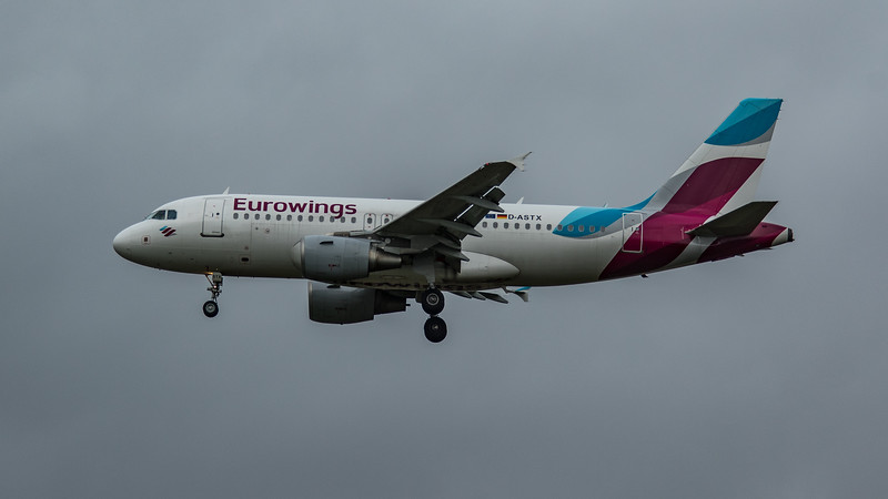 Eurowings - Airbus A319-112 (D-ASTX) - Heathrow Airport (March 2020)