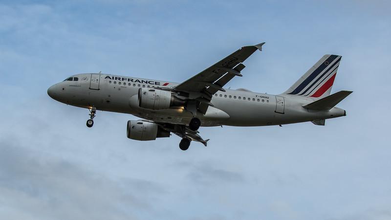 Air France - Airbus A319-111 (F-GRHU) - Heathrow Airport (February 2020)