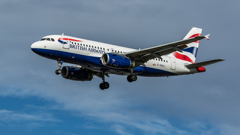 British Airways - Airbus A319-131 (G-DBCJ) - Heathrow Airport (February 2020)