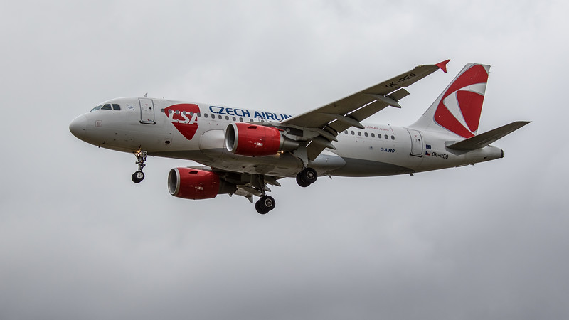 Czech Airlines - Airbus A319-112 (OK-REQ) - Heathrow Airport (June 2020)