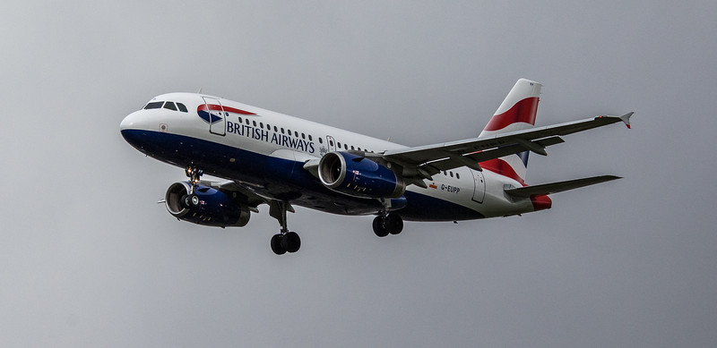 British Airways - Airbus A319-131 (G-EUPP) - Heathrow Airport (March 2019)