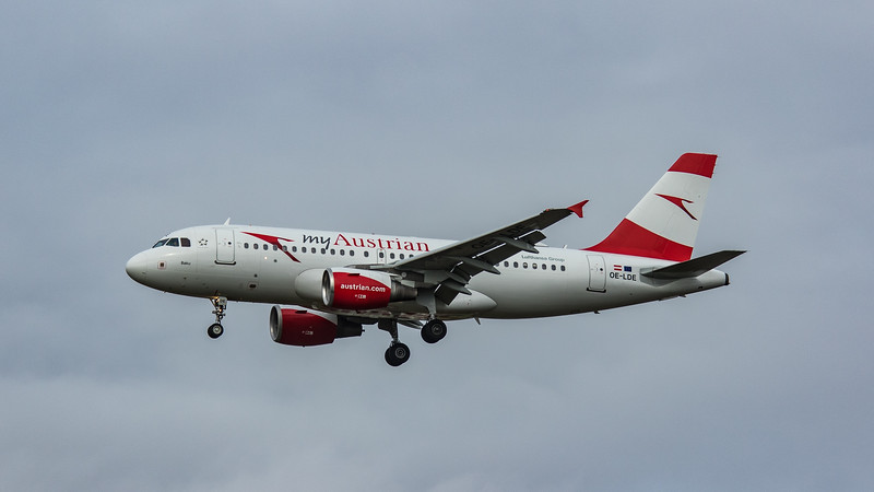 Austrian Airways - Airbus A319-112 (OE-LDE) - Heathrow Airport (March 2020)