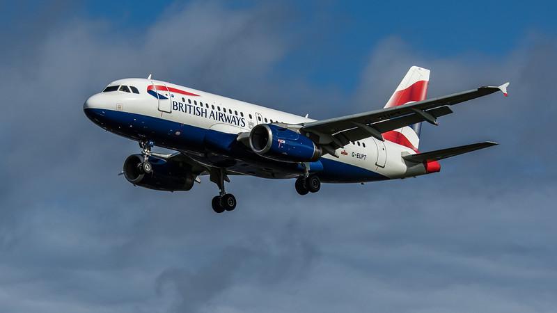 British Airways - Airbus A319-131 (G-EUPT) - Heathrow Airport (February 2020)