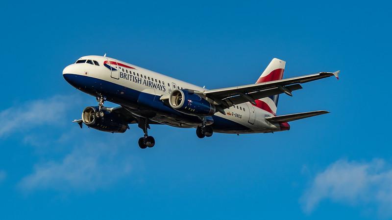 British Airways - Airbus A319-131 (G-DBCG) - Heathrow Airport (March 2020)