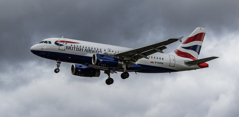 British Airways - Airbus A319-131 (G-EUPM) - Heathrow Airport (March 2019)