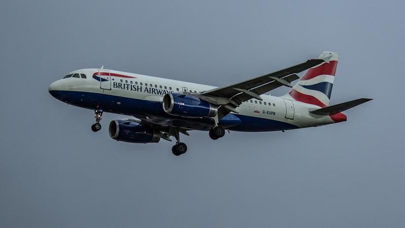 British Airways - Airbus A319-131 (G-EUPB) - Heathrow Airport (February 2020)
