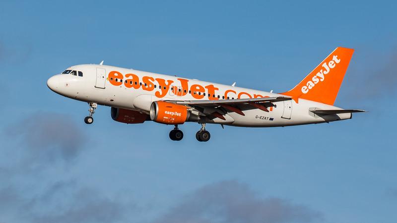 easyJet - Airbus A319-111 (G-EZAT) - Edinburgh Airport (February 2020)